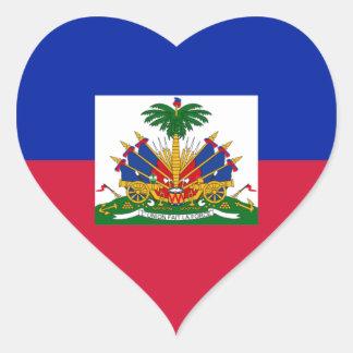 Sticker Cœur d'Haïti de Drapeau - drapeau du Haïti