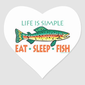 Sticker Cœur Dire drôle de pêche