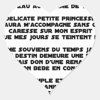 Sticker Cœur DORS - Poème - Francois Ville