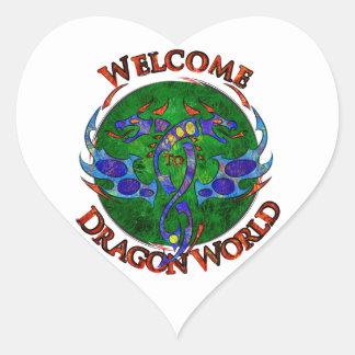 Sticker Cœur Draginossium - monde de dragon