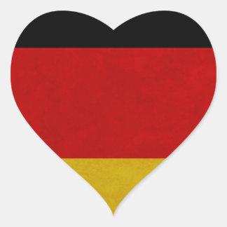 Sticker Cœur Drapeau Allemagne