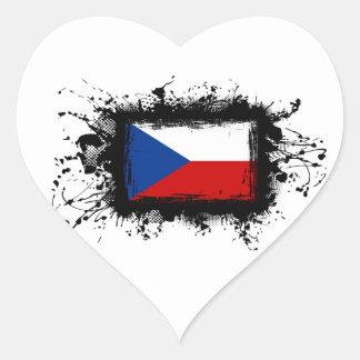 Sticker Cœur Drapeau de République Tchèque