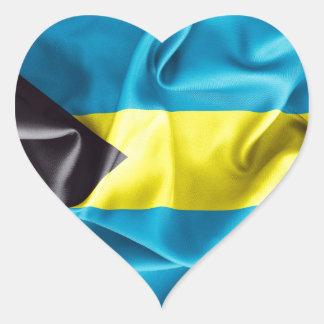 Sticker Cœur Drapeau des Bahamas
