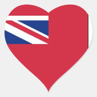 Sticker Cœur Drapeau des Bermudes