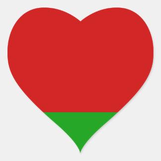 Sticker Cœur Drapeau du Belarus