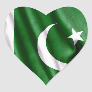 Sticker Cœur Drapeau du Pakistan