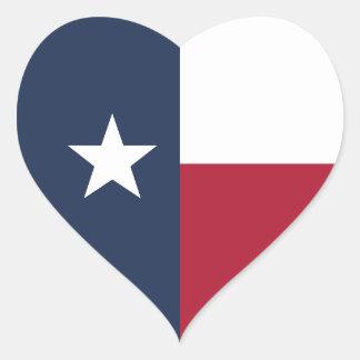 Sticker Cœur Drapeau du Texas