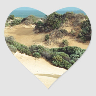 Sticker Cœur Dunes de sable balayées par le vent, Australie