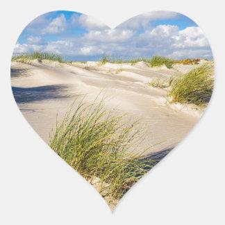 Sticker Cœur Dunes sur l'île Amrum de la Mer du Nord