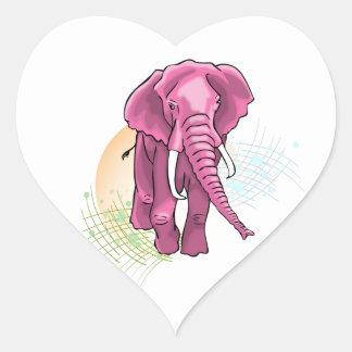Sticker Cœur Éléphant s'est levé