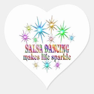 Sticker Cœur Étincelles de danse de Salsa