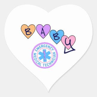 Sticker Cœur Étoile de bébé d'EMT de la vie