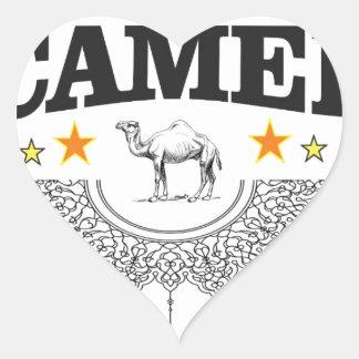 Sticker Cœur étoiles du chameau