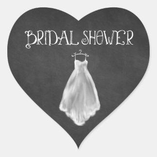 Sticker Cœur Faveurs nuptiales de douche de robe de mariage de