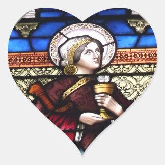 Sticker Cœur Fenêtre en verre teinté de Barbara de saint