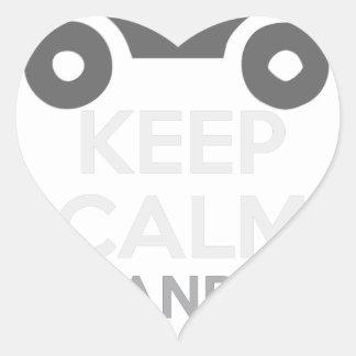 Sticker Cœur Gardez le calme et conduisez-LE - morue :