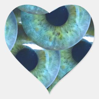 Sticker Cœur globes oculaires déplaisants
