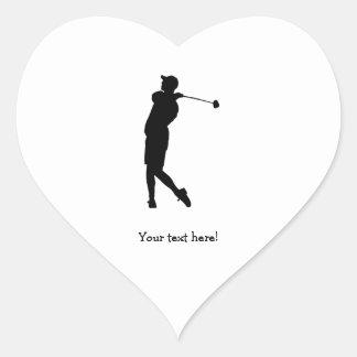 Sticker Cœur Golfeur