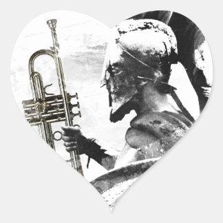 Sticker Cœur Guerrier de trompette