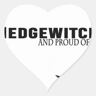 Sticker Cœur Hedgewitch et fier de lui