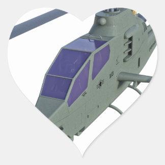 Sticker Cœur Hélicoptère d'Apache dans la vue de face