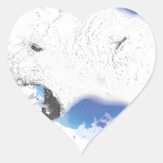 Sticker Cœur Iorek, ours blindé de ses matériaux foncés