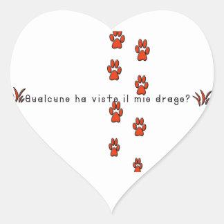 Sticker Cœur Italien-Dragon