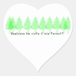 Sticker Cœur Italien-Forrest