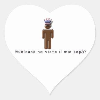 Sticker Cœur Italien-Papa