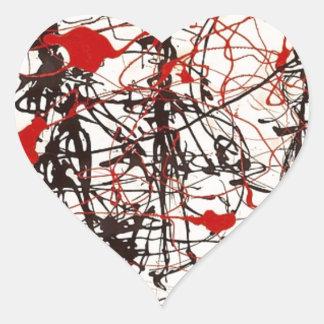 Sticker Cœur Jackson Pollock sans titre