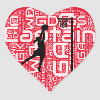 Sticker Cœur J'aime la conception de net-ball