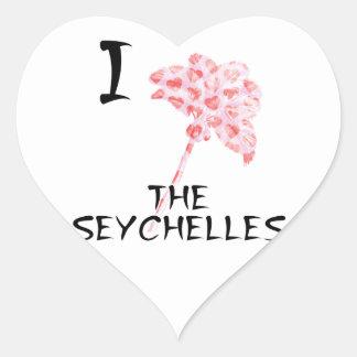 Sticker Cœur J'aime les Seychelles