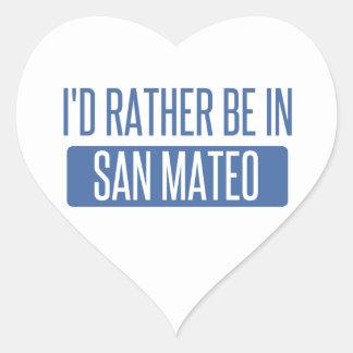 Sticker Cœur Je serais plutôt dans San Mateo