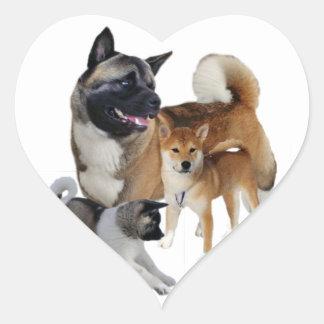 Sticker Cœur Jeu d'Akita