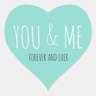 Sticker Cœur JEUNE MARIÉE et Co pour toujours vous et moi