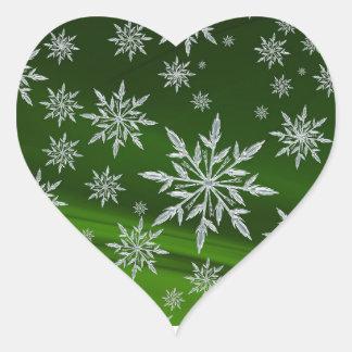 Sticker Cœur Joints d'enveloppe de carte de Noël