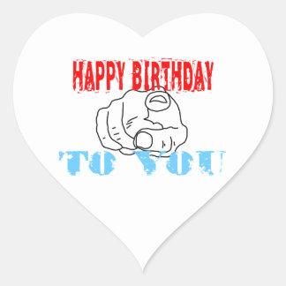 Sticker Cœur Joyeux anniversaire