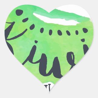 Sticker Cœur Jus frais de kiwi