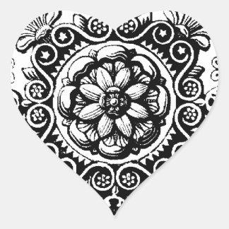 Sticker Cœur la fantaisie a mis en rouleau l'autocollant de