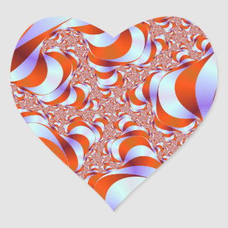 Sticker Cœur La rayure de sucrerie enracine l'autocollant de