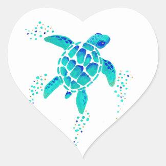 Sticker Cœur La tortue de Neptune