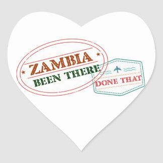 Sticker Cœur La Zambie là fait cela