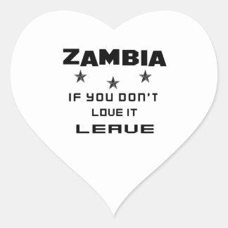 Sticker Cœur La Zambie si vous ne l'aimez pas, partent