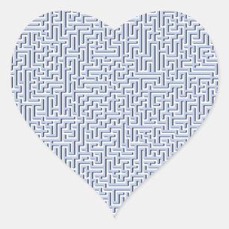 Sticker Cœur Labyrinthe bleu d'Alice dans un jardin anglais de