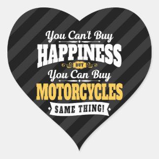 Sticker Cœur Le bonheur d'achat de pente de motocycliste peut