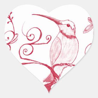 Sticker Cœur Le coeur du colibri