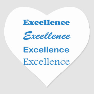Sticker Cœur Le mentor standard d'entraîneur d'EXCELLENCE