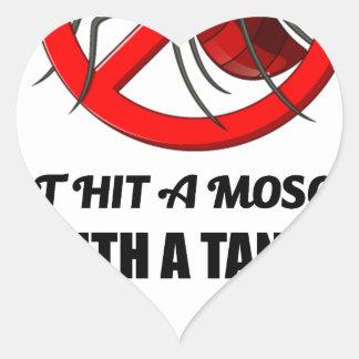 Sticker Cœur le moustique ne le frappent pas avec un réservoir