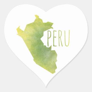 Sticker Cœur Le Pérou