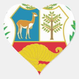 Sticker Cœur Le Pérou - escudo Nacional (emblème national)